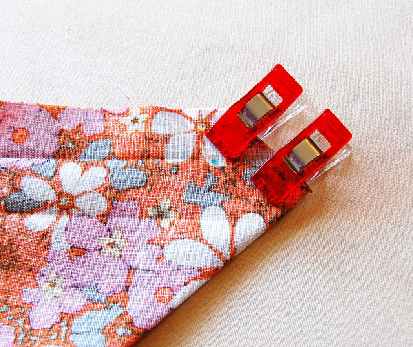 Use pins or fabric clips