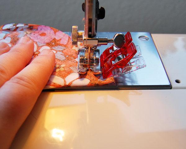 Sew your mitered corner stitch into each corner