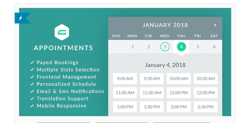 gAppointments Appointment Booking Add-On for Gravity Forms