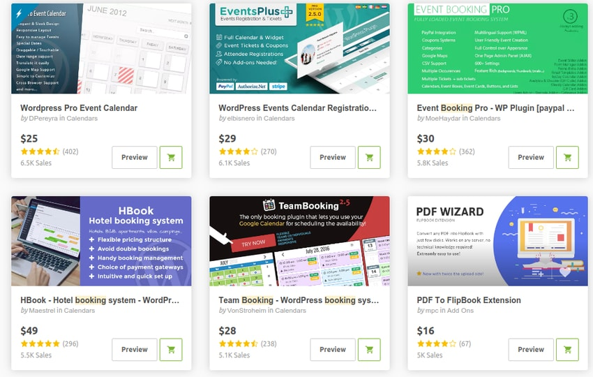 WordPress booking and reservation plugins