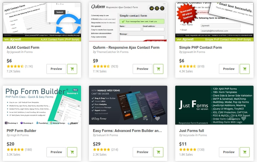 best-selling PHP form scripts