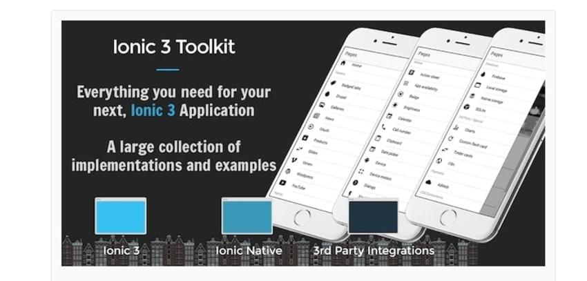 Ionic 3 toolkit