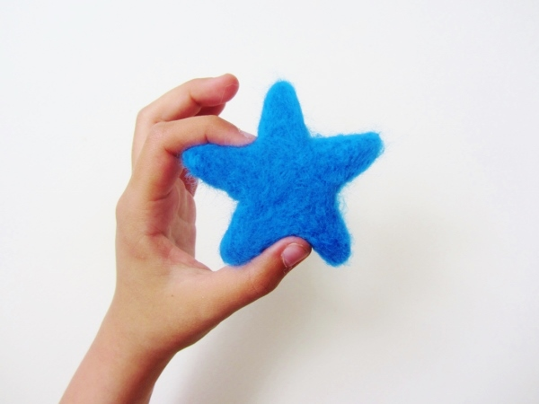 Finished felted star