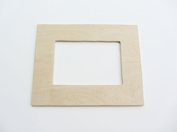 cut the inner rectangle and make any adjustments needed