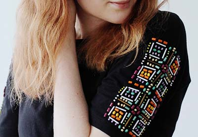 Beaded t shirt preview image