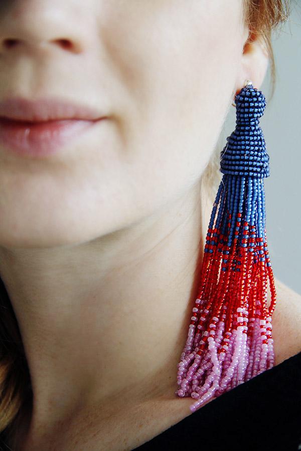 How To Make Oscar De La Renta Inspired Tassel Earrings