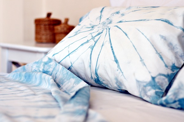 Shibori dyed pillow case