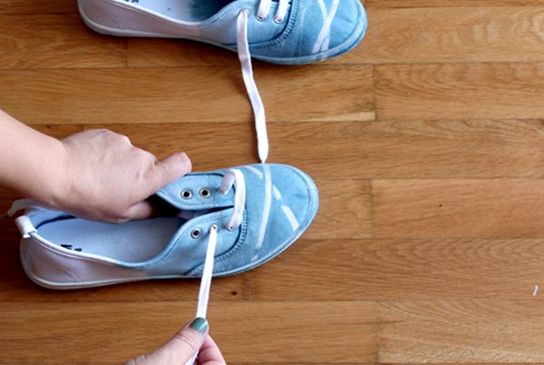 return the laces to your shoes