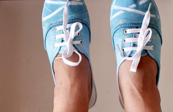 Shibori dyed sneakers