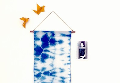 Shibori wall hanging preview
