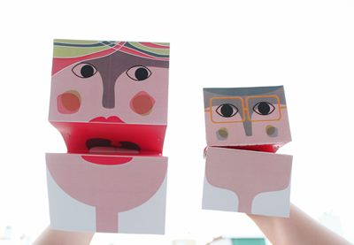 Paper hand puppets preview