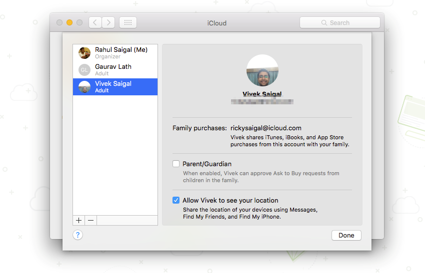 how to add family member to itunes