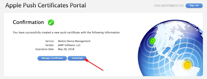 Download the Apple Certificate from the Portal