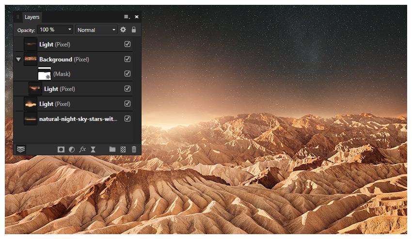 add backdrop screen light