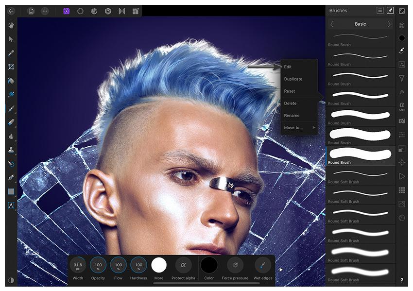 edit brushes