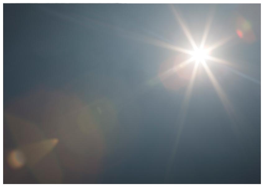 sunlight lens flare overlay