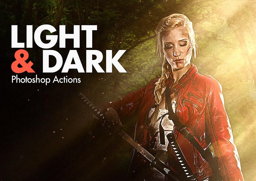 light  dark Photoshop actions