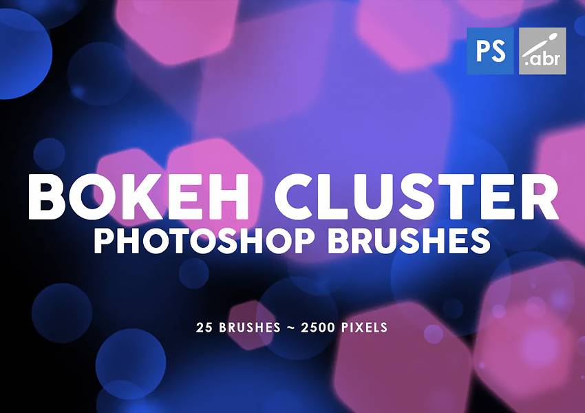 25 Bokeh Cluster Photoshop Stamp Brushes