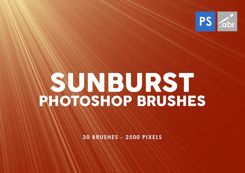 30 Sunburst Photoshop Stamp Brushes