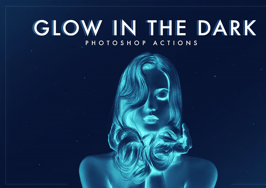 Glow in the dark Photoshop Actions