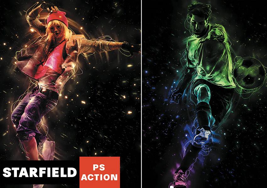 Starfield Photoshop Action
