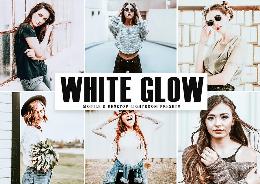 White Glow Mobile  Desktop Lightroom Presets
