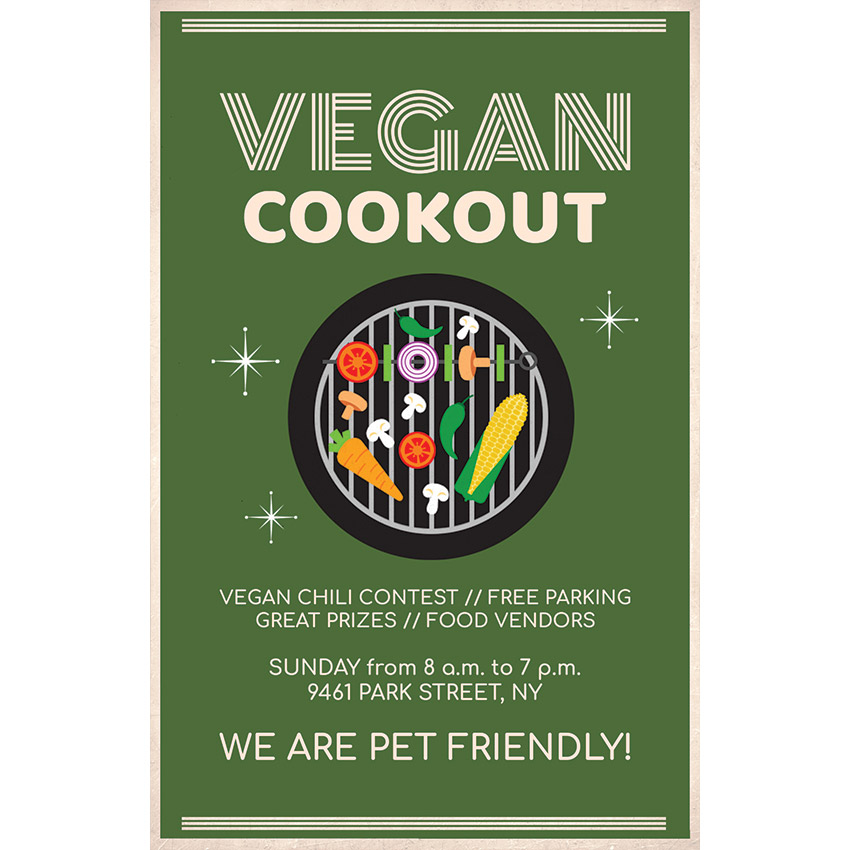 Vegan BBQ Flyer Template