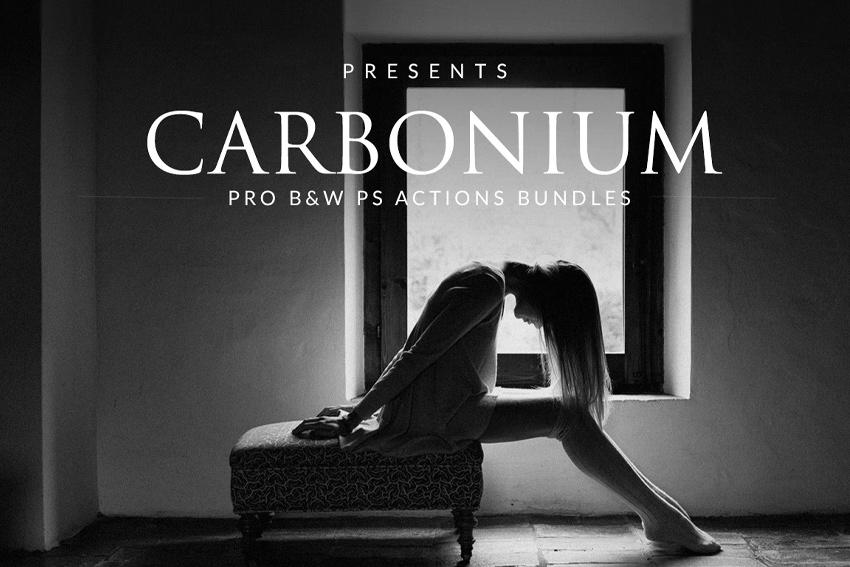 Carbonium - Black  White PS Actions