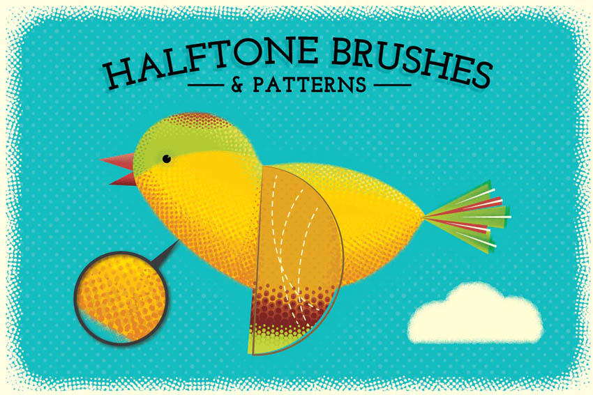 Halftone Brushes  Bonus Patterns