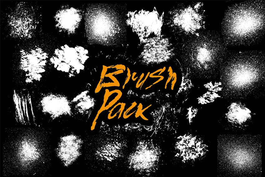 22 Splatter Brushes Pack