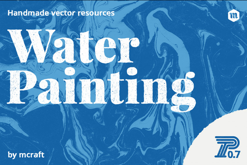 Water Painting Texture Background