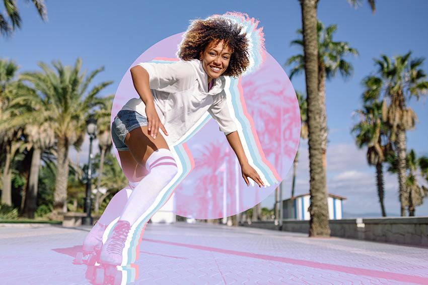retro rainbow photo effect