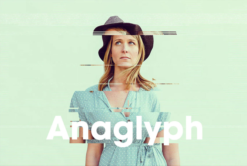 anaglyph photo effect