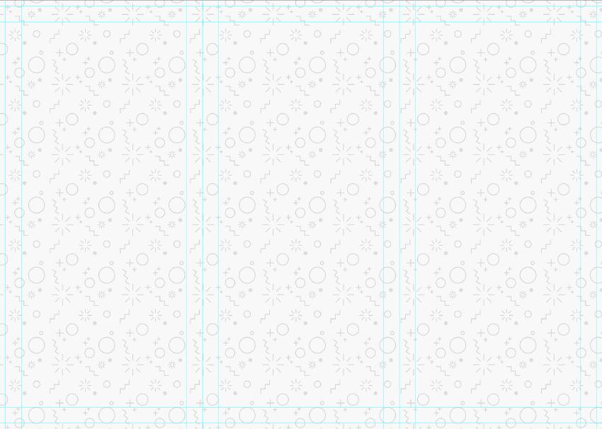 pattern overlay to tri-fold brochure design
