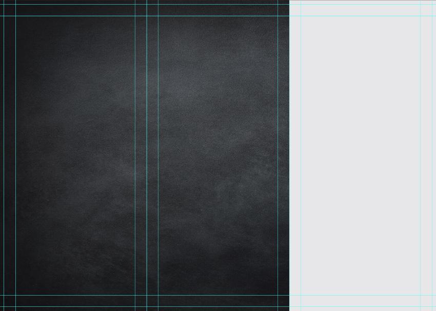 create side panel on back of tri-fold brochure design
