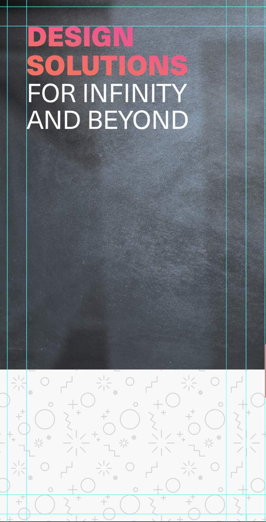 add subtitle to tri-fold brochure design