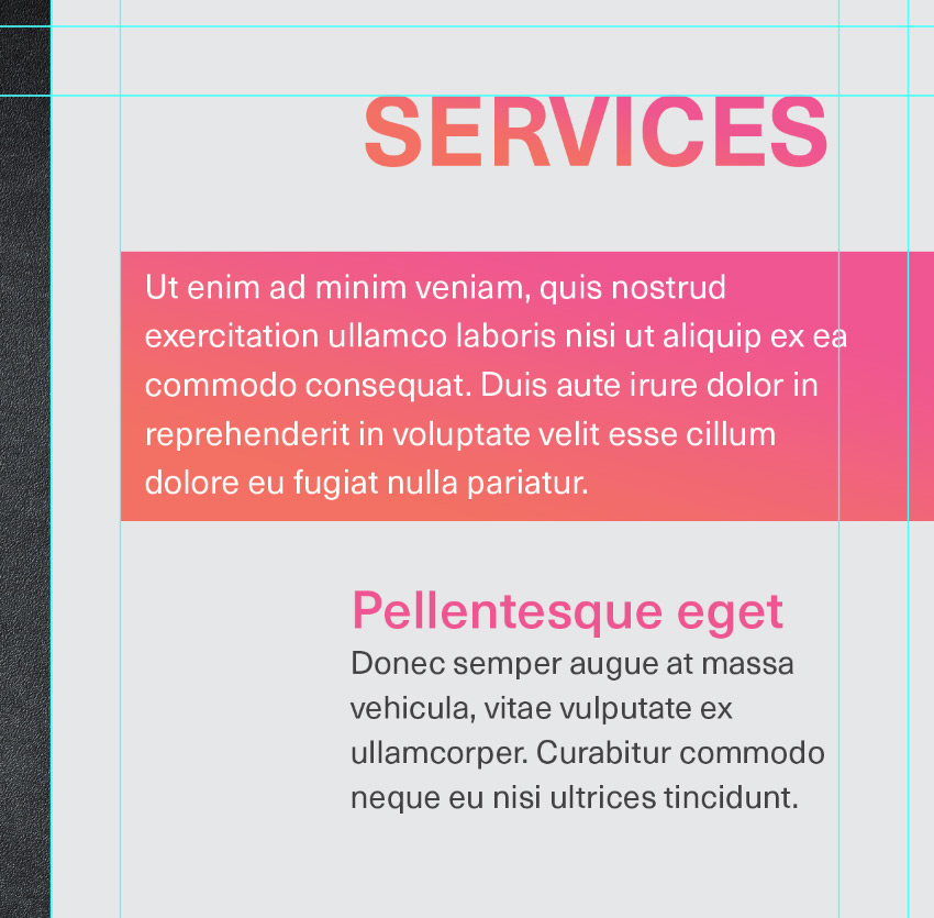 title and describe a service