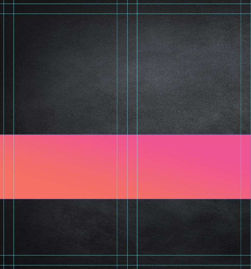 create pink orange rectangle