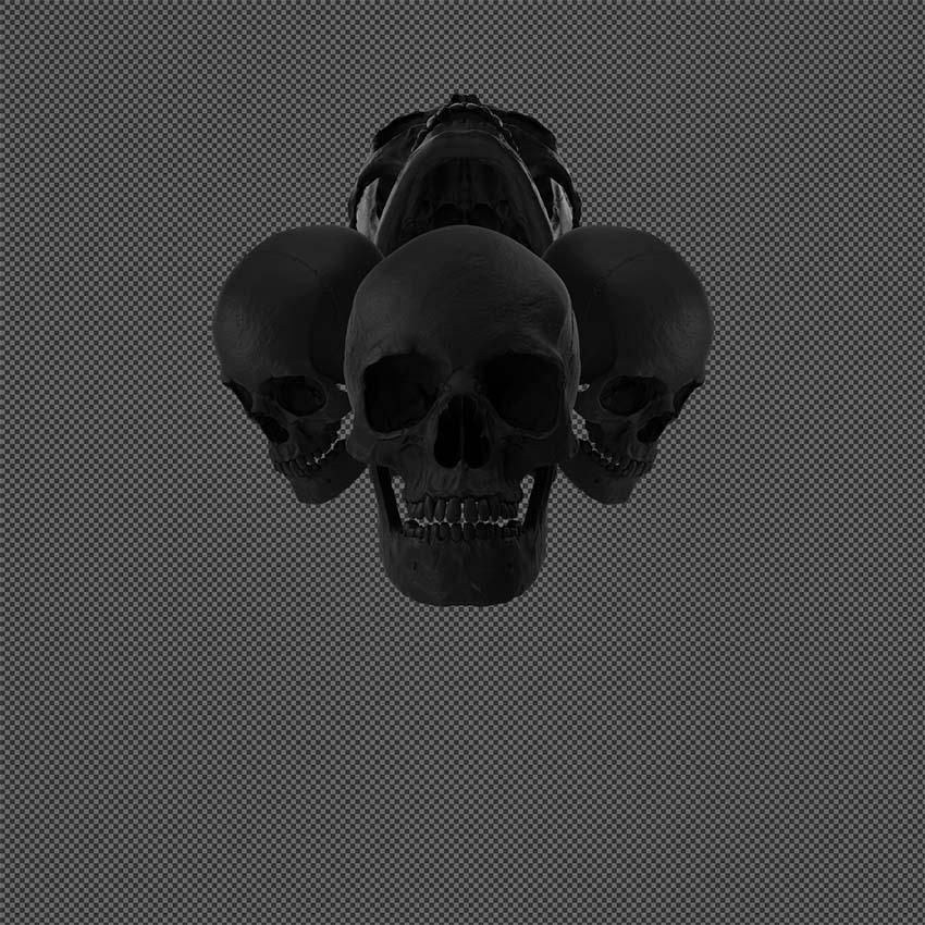heavy metal album art skulls
