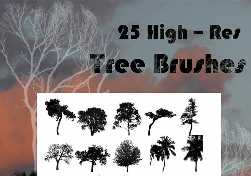 25 Tree Brushes