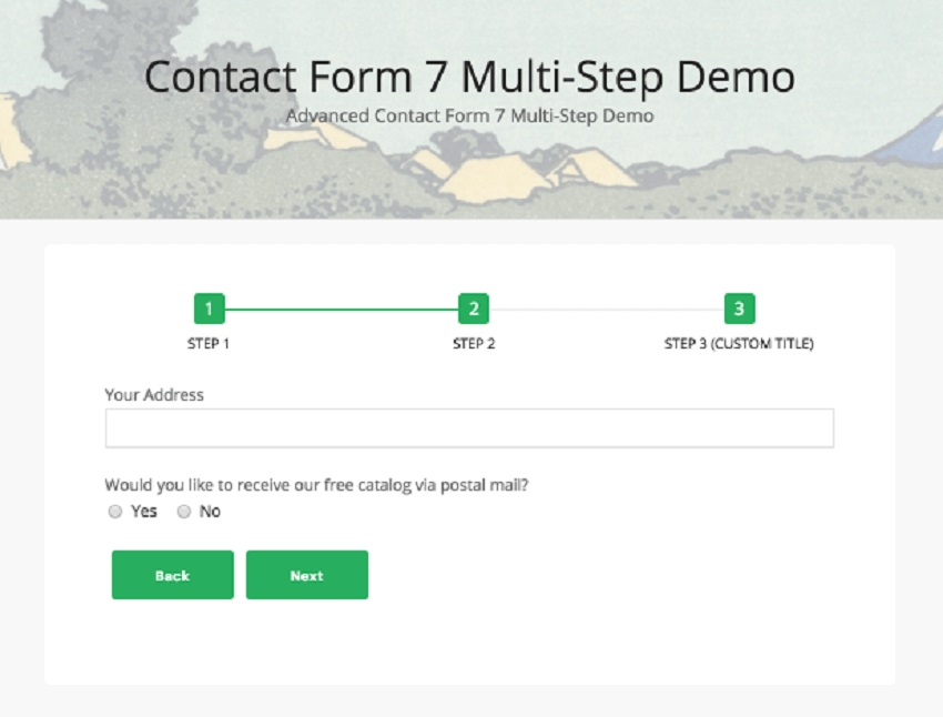 Contact Form Seven CF7 Multi-Step Pro