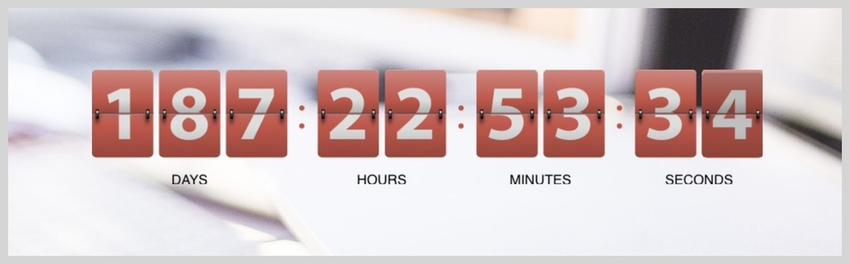 Resizable Multicolor Countdown