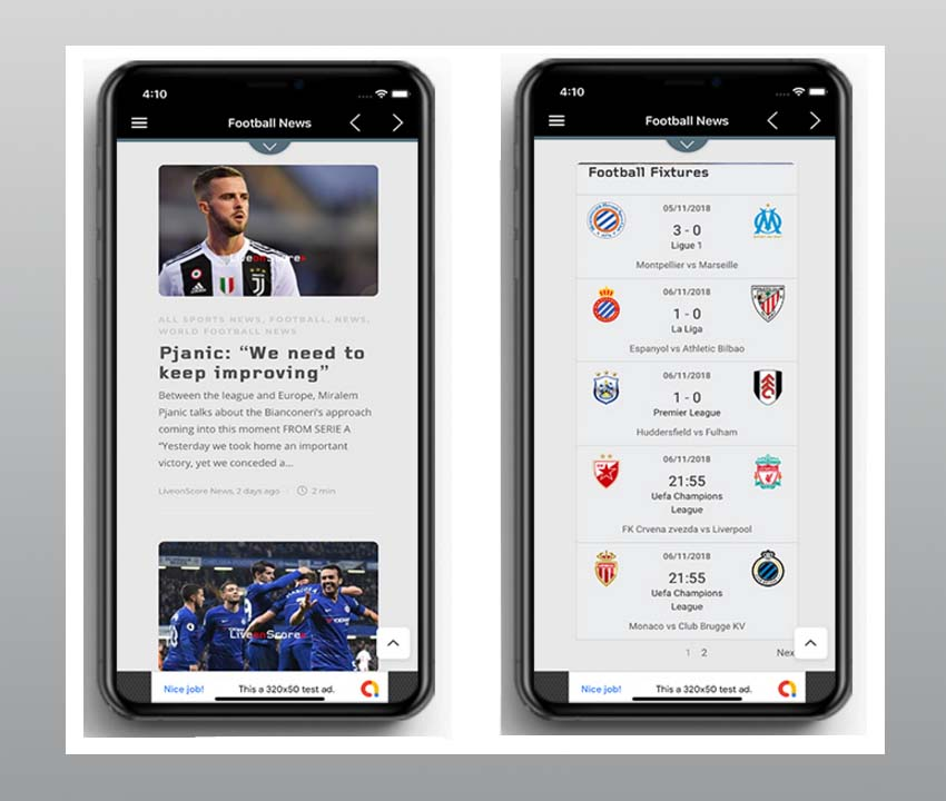 Sports News - Football news app template