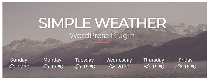 Simple Weather Best Selling WordPress Plugin