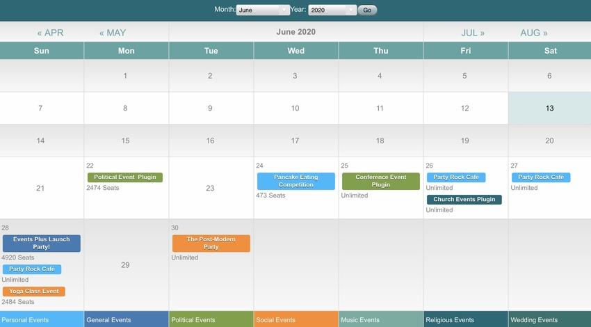 Events Plus - WordPress Events Calendar Registration  Booking