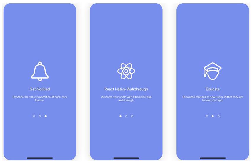 React Native App Free Walkthrough Flow