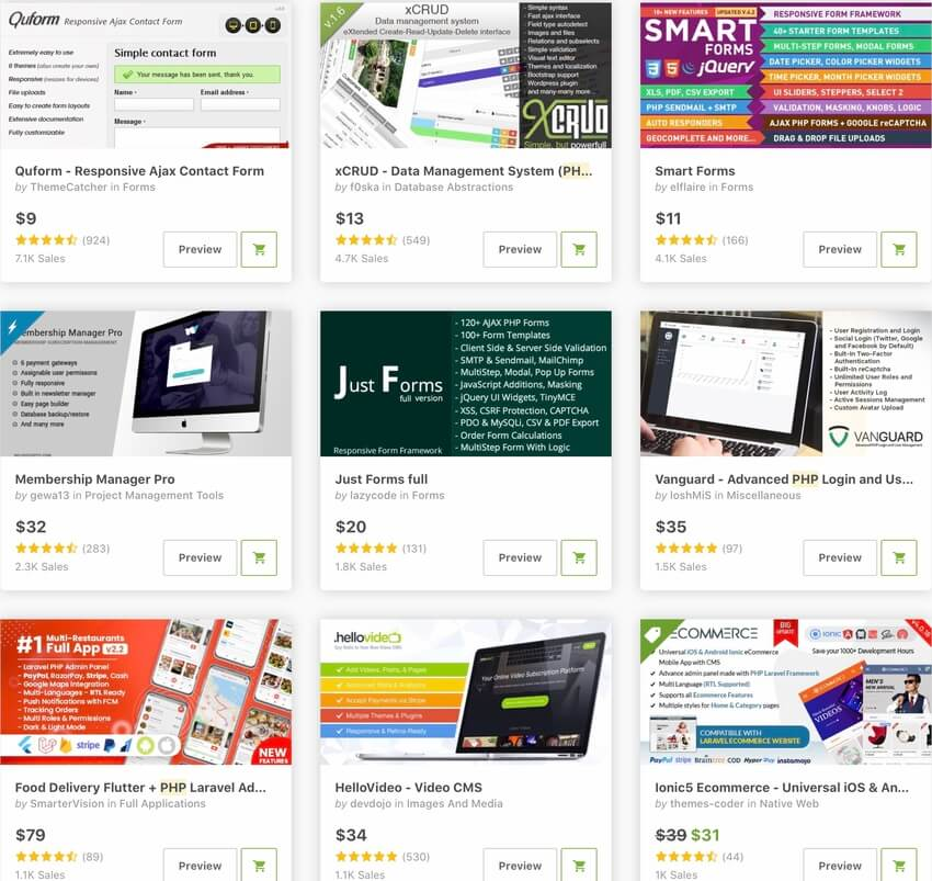 Top-Selling PHP Frameworks