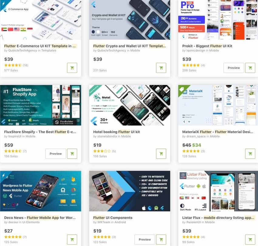 Bestselling Flutter Mobile App Templates on CodeCanyon