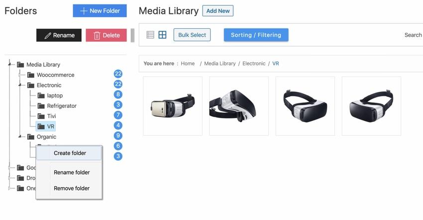 CloudFiles - WordPress Media Library Folders Cloud