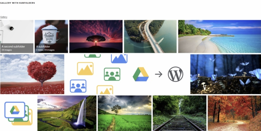 Image  Video Gallery from Google Drive
